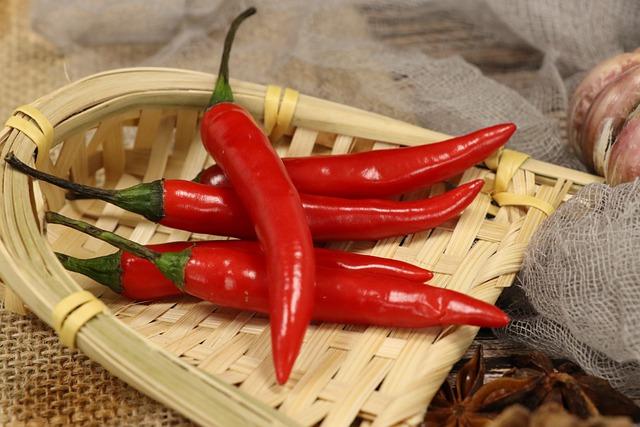 afvallen met rode pepers